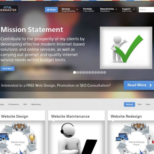 Website Redesign Complete – www.VitalWebmaster.com – Launch News Release