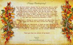Click Here To View Full Thanksgiving Card